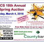 Greenwood Christian School Planning Annual Auction March 4, 2016