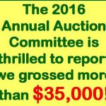 2016 Annual Auction Grossed More Than $35,000