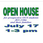 Open House: July 17, 1-3 PM