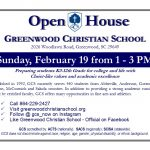 Open House – February 19 at 1 pm – 3 pm