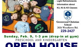 Preschool and Kindergarten Open House – February 9