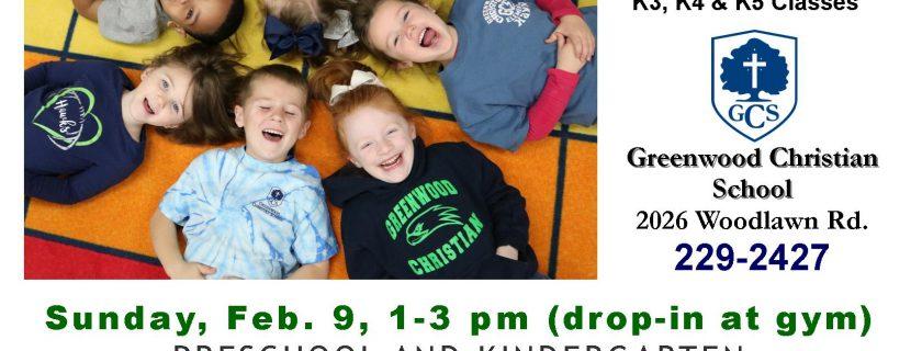 Preschool and Kindergarten Open House – February 9