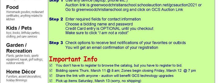 GCS 23rd Annual Spring Auction