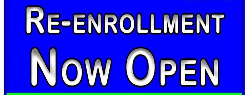 Re-Enrollment News